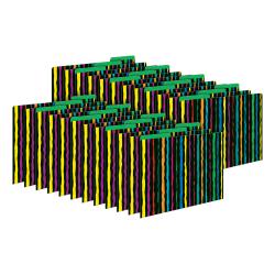 Barker Creek Tab File Folders, Letter Size, Neon Stripes, Pack Of 24 Folders