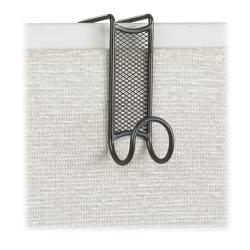 "Safco® Onyx Mesh Sturdy Coat Hook, 4 1/4""H x 1 3/4""W x 5""D, Black"