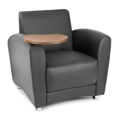 OFM InterPlay Series Single-Tablet Chair, Black/Bronze