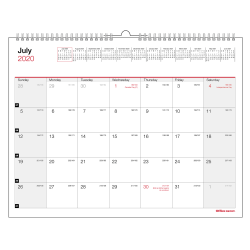 "Office Depot® Monthly Academic Desk Calendar, 8-1/2"" x 11"", 30% Recycled, July 2020 to June 2021"
