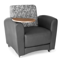"OFM Interplay-Series Single-Tablet Chair, 33""H x 43""W x 32""D, Nickel/Black/Bronze"