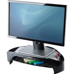 """Fellowes® Smart Suites™ Monitor Riser Plus, 4""""H x 18 13/16""""W x 13""""D, Black"""