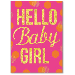 """Viabella New Baby Girl Greeting Card, 5"""" x 7"""", Multicolor"""