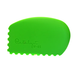 Princeton Catalyst Silicone Tools, Wedge, #3, Green, Pack Of 2