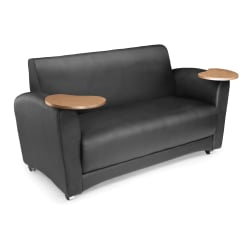 "OFM Interplay-Series Double-Table Sofa, 33""H x 82""W x 32-1/2""D, Black/Bronze"
