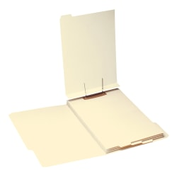 Smead® End-Tab Folder Dividers With Fasteners, Legal Size, Manila, Box Of 50