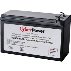 CyberPower RB1270C Replacement Battery Cartridge - 1 X 12 V / 7 Ah Sealed Lead-Acid Battery, 18MO Warranty