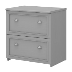 """Bush Business Furniture Fairview 30""""W Lateral 2-Drawer File Cabinet, Cape Cod Gray, Standard Delivery"""