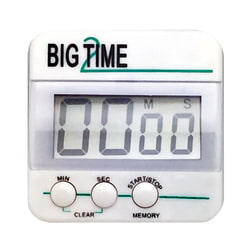 Ashley Productions Big Time 2 Up/Down Timer, White/Green, Pack Of 3