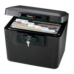 "Sentry®Safe 1170 Security Fire File, 13 3/5""H x 15 3/10""W x 12 1/10""D, Black"