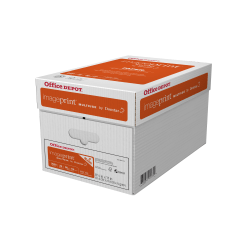 """Office Depot® Brand ImagePrint® Multi-Use Paper, Letter Size (8 1/2"""" x 11""""), 20 Lb, FSC® Certified, Ream Of 500 Sheets, Case Of 5 Reams"""