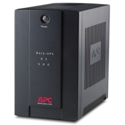 APC by Schneider Electric Back-UPS RS BR500CI-AS 500 VA Tower UPS - Tower - 10 Hour Recharge - 3 Minute Stand-by - 230 V AC Output