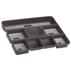 "Madesmart® 8-Compartment Drawer Organizer, 12""H x 16""W x 2""D, Granite"