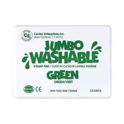 "Center Enterprise Jumbo Washable Unscented Stamp Pads, 6 1/4"" x 4"", Green, Pack Of 2"