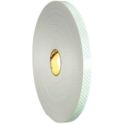 """3M™ 4008 Double-Sided Foam Tape, 3"""" Core, 2"""" x 5 Yd., Natural"""