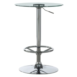 "Powell Novelli Adjustable-Height Pub Table, 42-3/4"" x 23-5/8"", Chrome"