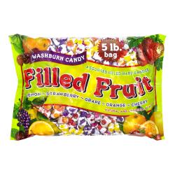 Washburn Fruit-Filled Hard Candy, Assorted Flavors, 5 Lb Bag