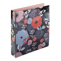 "Office Depot® Brand Fashion Binder, 1-1/2"" Rings, 100% Recycled, Big Flowers"