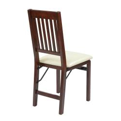 Office Star™ Hacienda Mission Back Folding Chairs, Cream, Set Of 2