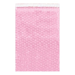 """Office Depot® Brand Anti-Static Bubble Pouches, 15-1/2""""H x 10""""W, Pink, Case Of 250 Pouches"""