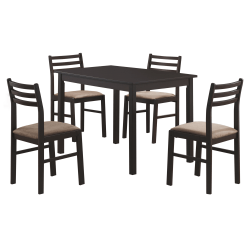 Monarch Specialties Alice Dining Table With 4 Chairs, Cappuccino