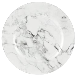 """Amscan Printed Plastic Charger Plates, 13"""", Marble, Set Of 2 Plates"""