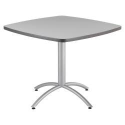 """Iceberg CafeWorks Cafe Table, Square, 30""""H x 36""""W, Gray"""