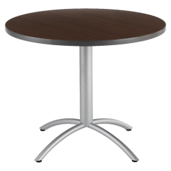 "Iceberg CafeWorks Cafe Table, Round, 30""H x 36""W, Walnut"