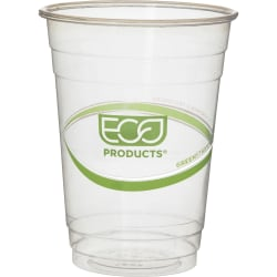 Eco-Products GreenStripe Cold Cups - 16 fl oz - 50 / Pack - Clear, Green - Polylactic Acid (PLA), Plastic - Cold Drink
