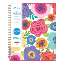 """Blue Sky™ AY21 Weekly/Monthly PP Planner, 8-1/2"""" x 11"""", Mahalo, July 2020 To June 2021, 100149-A"""