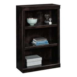 "Realspace® 45""H 3-Shelf Bookcase, Peppered Black"