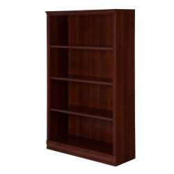 South Shore Morgan 4-Shelf Bookcase, Royal Cherry