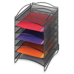 Safco® Onyx™ 6-Compartment Mesh Literature Organizer, Black