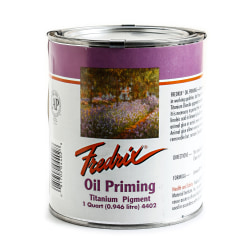 Fredrix Titanium Dioxide Oil Priming Compound, 1 Quart