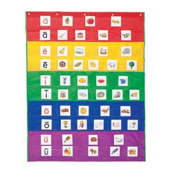 "Learning Resources Rainbow Pocket Chart, 33 1/2"" x 42"", Multicolor, Grade 1 - Grade 3"