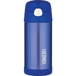 Thermos Blue 12 oz FUNtainer Bottle - 12 oz - Vacuum - Blue