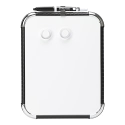 """Office Depot® Brand Mini Magnetic Dry-Erase Whiteboard, 8-1/2"""" x 11"""", Plastic Frame With Black Finish"""