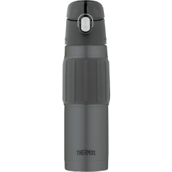Thermos 2465CHTRI6 18-Ounce Stainless Steel Hydration Bottle (Charcoal) - 18 fl oz (532.3 mL) - Vacuum - Charcoal