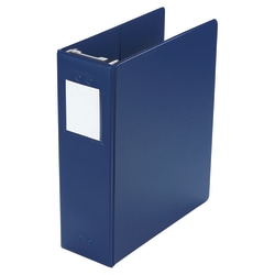 "Wilson Jones® Hanging 3-Ring Binder, 2"" Square Rings, Blue"