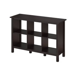 Bush Furniture Broadview 6 Cube Storage Bookcase, Espresso Oak, Standard Delivery