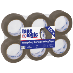 "Tape Logic #700 Economy Tape, 2"" x 110 Yd, Tan, Case Of 6 Rolls"