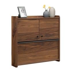"Sauder® Harvey Park 29""W Wall Mounted Desk, Grand Walnut"