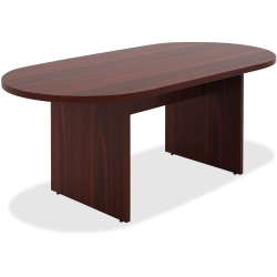 Lorell® Chateau Series Oval Conference Table, 6'W, Mahogany