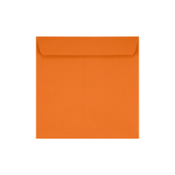 "LUX Square Envelopes With Peel & Press Closure, 7 1/2"" x 7 1/2"", Mandarin Orange, Pack Of 1,000"