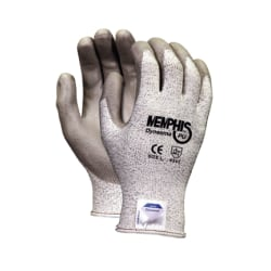 Memphis Glove Dyneema Polyurethane Gloves, Large, White/Gray