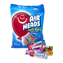 Airheads Mini Bars, Assorted Flavors, Bag Of 80 Pieces