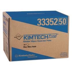 "Kimtech KIMTEX Wipers, 12 1/8"" x 16 13/16"", Blue, Box Of 180"