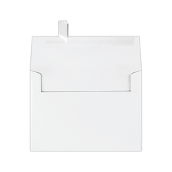 """LUX Invitation Envelopes With Peel & Press Closure, A7, 5 1/4"""" x 7 1/4"""", White, Pack Of 50"""