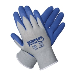 Memphis Glove Flex Seamless Nylon Knit Gloves, X-Large, Blue/Gray