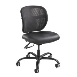 Safco® Vue™ Intensive Use Mesh Task Chair, Black Vinyl